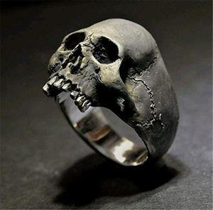 Hot Selling Rock Gothic Skull Ring Punk Jewelry Men's Halloween Gift Retro Ring
