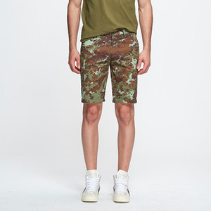 2019 Summer New Men'S Casual Shorts Five-Point Pants European And American Fashion Brand Washed Men'S Camouflage Print Overalls