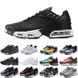 Toptan TN artı 3 erkek kadın spor ayakkabı üçlü beyaz siyah yanardöner paraşüt paketi örümcek erkek eğitmenler spor sneakers koşucular