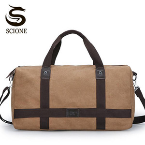 Men's Large Canvas Travel Bag Vintage Luggage Travelling Handbag For Male Duffle Bags Business Carry On Weekend Handbags XA171M