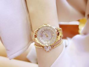 BS Female Studente Crystal Gestore Drill Drill Braccialetto di fascia alta Tavolo Diamond Scherbato Lussuoso orologio da quarzo stella