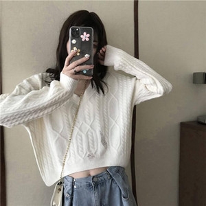 Korean Style Woman Sweaters Casual Loose Fashion Winter Pullover Knitted Woman Sweaters Sweter Damski Women's Clothing DB60MY