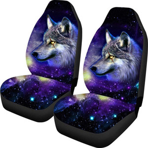 new Universal Car Seat Cover scar wolf printing 9pcs Full Seat Covers Fittings Sedans Auto Interior Car Accessories Car Care Seat Protector