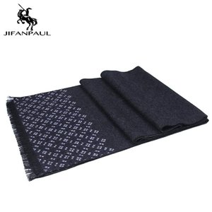 JIFANPAUL New men's scarf autumn and winter national classic plaid scarf casual warm business thickening long bib men
