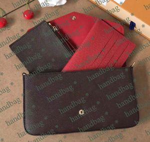 Классическая известная сумка для сумок Одиночная плеча кросс-тело сумка дамы кошелек мода цепной сумка три в один с коробкой