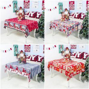 Polyester Toalha lavável Partido dos desenhos animados Natal New 7styles Natal Toalha de mesa toalha de mesa Decoração de 150 * 180 centímetros Boa Qualidade DHA1797