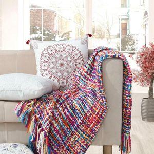 Moda 100% acrílico manta de crochet en hogar sofá cama cubiertas 50x60 pulgadas de hilo colorido tiro portátil invierno warm warm warms1