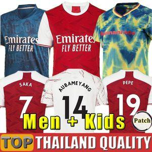 Arsenal camisetas de fútbol 20 21 PEPE SAKA WILLIAN NICOLAS CEBALLOS GUENDOUZI SOKRATIS TIERNEY 2020 2021 Camiseta de futbol Hombres Mujer Kit para niños uniforme