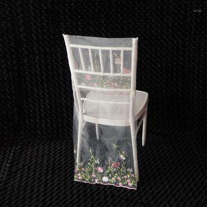 100 PCS Free Shipping Pink Fairyland Chiavari Chair Cover MEMO Style Chair Hood Lace Sash1