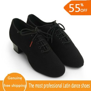 Latin Dance Shoes Woman Genuine Leather Modern Dance Shoe Teacher Jazz Aerobics Dancing Sneakers Coupons 100% Genuine BD 417 Hot 201017