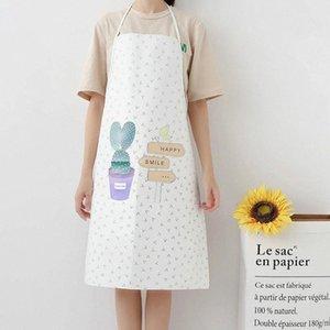 Yfashion Nordic Style creativi della famiglia grembiule impermeabile coreano Moda Bakery Cucina antivegetativa a casa metà grembiule blu appron Nero WLbP #