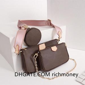 Handbag Shoulder Bags Crossbody Fashion l Flower Bag Handbag Wallet Phone Bags Three-piece Combination Bags Free Shopping