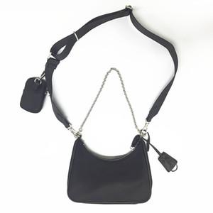 2020 Vente 3 pièces de qualité supérieure des femmes de sacs à main Crossbody sac à bandoulière en nylon vintage fourre-tout sac à main de dame hobo mode duffle sac rose