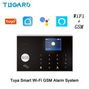 Akıllı ev aksesuarları Android Ios Uygulamalar Kontrolü siren IP kamera duman dedektörü ile Wifi Gsm Ev Güvenlik Alarm Sistemi