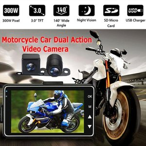 Vehemo 3 Inch LCD Screen Video Recorder Motorcycle Driving Recorder Durable Car DVR Tachograph HD Clarity Automobile