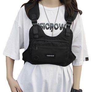 Borse da uomo petto per uomo Hip Hop Streetwear Borse in vita Borse tattiche Unisex Casual Tactical Utility Bag BAG C1026