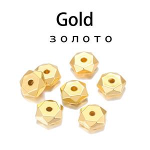 200 stücke kc gold rhodium bulk ccb kunststoff perle rad runde lose spacer perlen für schmuck makings armband halskette diy liefert h bbbyzii