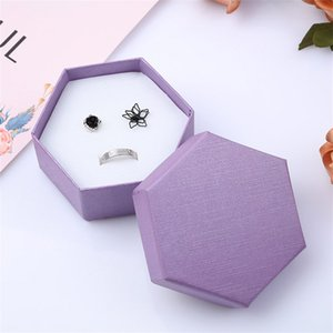 Pure Color Jewelry Box Upper Lower Lid Pendant Ear Nail Ring Packing Case Six Sides Gift Boxes 1 6mf