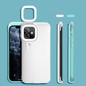2021 Новейшие продукты Selfie Selfie Интеллектуальные Светодиодные Кольцо Flash Fill Свет Телефон Чехол Для iPhone 11 12 Про