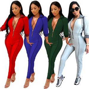 S-2XL Femmes Body Jumpsuit Body Rompers Mesdames One Piece Pantalons Solid Sexy Zonefer Vêtements Oneies Hiver Automne Streetwear Tenues CZ102704