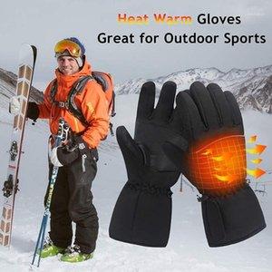 قفازات كهربائية ساخنة 3 مستوى ترموستات شاشة اللمس ركوب الدراجات التزلج المشي المشي لمسافات طويلة تسلق موتو الشتاء الدافئ التدفئة قفازات 1