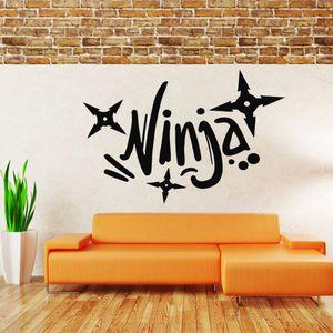 Sport Ninja Wall Sticker Quotes Decals Mural Room Design Home Decoration Bedroom Pattern Wallpaper Waterproof Removable