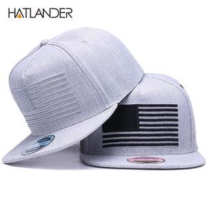 [HATLANDER] أثارت التطريز بارد سقف مشروع قانون شقة البيسبول رجل gorras SNAPBACKS 3D العلم قبعة ردور القبعات snapback القبعات الهيب هوب 201023