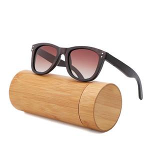 100٪ ريترو الخيزران خشبية نظارات شمس إمرأة نظارات شمس ماركة مصمم الأزياء الفاخرة الاستقطاب الرجال النساء قيادة GAFA