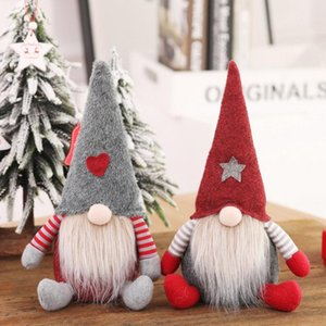 2020 Cute Handmade Christmas Tree Cartoon No Face Fluff Doll Decoration Xmas Home Party Ornament Creative Festive Hanging Gifts