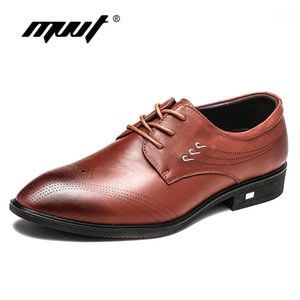 MVVT Fashion Gentleman Genuine Shoes Leather Shoes Oxfords Uomo Scarpe formali Business Business Business Abit Flats Wedding1