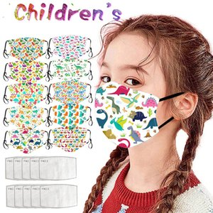 1 5pc Fast Delivery Headband Children's Dinosaur Cartoon Masks Washable Cotton Pm2.5 Masks Funny Face Mascarillas Mascarar jllOwz