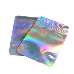 100pcs ciglia Sacchetti per imballaggio Idea Holographic Laser Zip favore di partito Bag ciglia Lash Box Package
