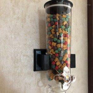Tahıl Dispenseri Çift Tek Kuru Snack Tahıl Teneke Kutu Plastik Depolama Duvara Monte Teneke Kutu Tahıl Dağıtıcı Yeni # SYS1