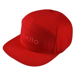 LED Hat Programmable Scrolling Message Display Board Baseball Cap Hip Hop Party Cap #YJ2 201019