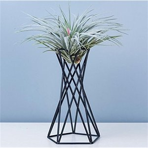 Modern Style Iron Art Tabletop Metal Air Plant Holders Stands Plant Containers Flower Racks In stock Dropshipping C0125