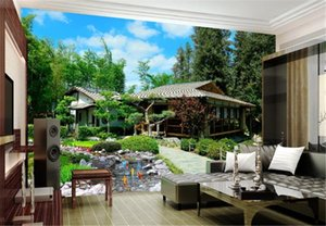 Wholesale Photo Wallpaper Space Garden Back Garden 3D Landscape Wallpaper Digital Print Beautiful Wallpaper