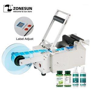 ZonesUn LT-50 Semi-Automatic Rond Bottle Marching Machine Manuelle Étiquetage Sticker Machine En Plastique Étiquette Distributeur1