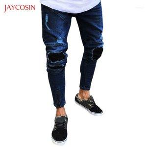 Jaycosin Mens 청바지 슬림 피트 바지 클래식 2020 가짜 지퍼 디자인 청바지 남성 캐주얼 펜슬 바지 중반 허리 바지 옴에 족 S-3XL11