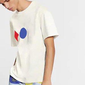20ss Klasik Üç Baskı Jakarlı Erkekler Kadınlar Çift Tee Katı Renk Nefes Kısa Kollu Casaul Sokak Yüksek Kalite T-shirt Yaz