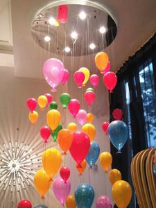 Colorful Glass Balloon lampadario Lampada a sospensione luce di soffitto bambini Camera da letto moderna