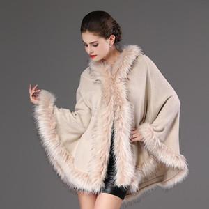 2020 Herbst-Winter-Wollmäntel Frauen Faux-Pelz-Mantel mit Kapuze Luxuxentwerfer Thick Weibliche Oberbekleidung Jacken Dame Party Kleidung