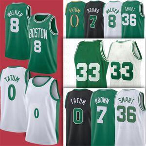 0 Jayson 2021 NCAA Tatum 8 Kemba 7 Jaylen 33 коричневый Уокер Smart 36 Marcus City College 2021 Баскетбол Джерси