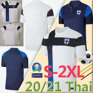 2020 2021 Équipe nationale Finlande Football Maillots Coupe d'Europe Pukki SKRABB Raitala JENSEN Suomi Accueil Blanc Hommes football Chemises Uniforme S-2XL