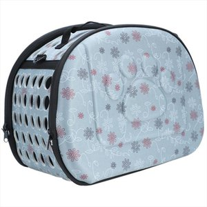 Pet Dog Cat Sided Carrier Foldable Travel Tote Shoulder Bag Portable Cage Kennel Gray Drop Shipping