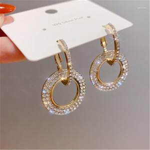 New Design Creative Jewelry High Quality Earrings Round Gold And Silver Color Earring Wedding Earrings Ladies Brincos De Festa1