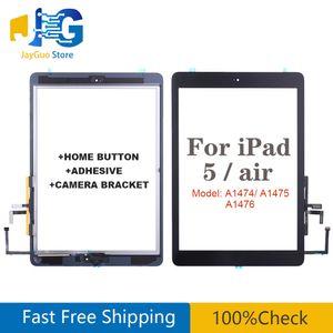 Para Tela iPad Air 1 iPad 5 Gen Toque digitador de vidro com Home Button Replacement adesivo A1474 A1475 A1476 Painel