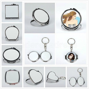 Blank sublimation mirror heat transfer printing makeup mirrors dye sublimation cosmetic mirror for new year birthday gifts DHL