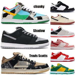 Sombra Hombres Mujeres Basketaball zapatos Chunky Muslin Black Sneakers Travis Scotts Truck It Trainers Day Trainers con TAG