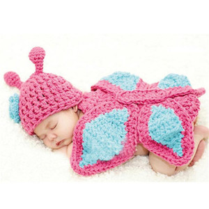 Newborn Photography Props Animals Infant Costume Newborn Hat Kids Clothes Knitted Photography Prop Baby Crochet Clothes