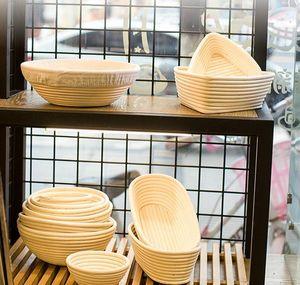 Panier d'épreuve du pain Indonésie Rattan Tissé Européen Fermentation Bol Cuisine Outil de cuisson rond Dough Moule Ovale Tisser le tissage JLLDWQ